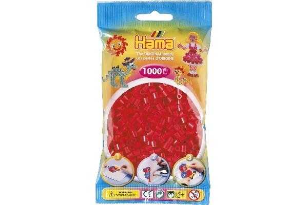 Image of Hama midi perler - 207-05 - Rød - 1000 stk