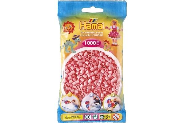 Image of Hama midi perler - 207-06 - Lyserød - 1000 stk