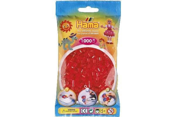 Image of Hama midi perler - 207-13 - Neon rød - 1000 stk