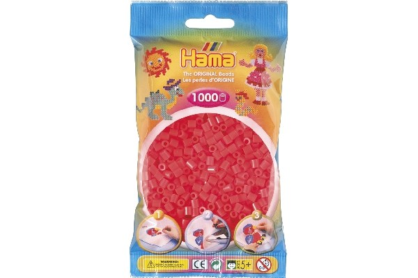Image of Hama midi perler - 207-35 - Neon pink - 1000 stk