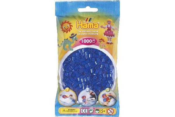 Image of Hama midi perler - 207-36 - Neon blå - 1000 stk