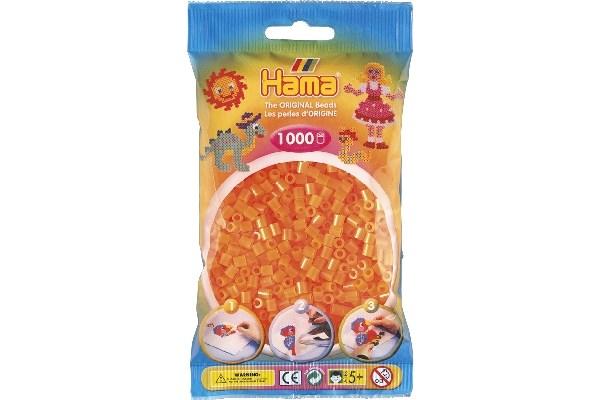 Image of Hama midi perler - 207-38 - Neon orange - 1000 stk