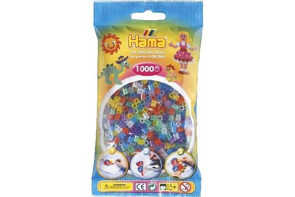 Image of Hama midi perler - 207-54 - Blandet neon farver - 1000 stk