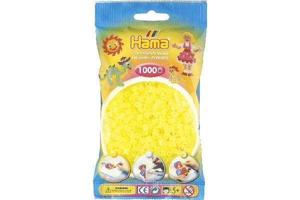Image of Hama midi perler - 207-34 - Neon Gul - 1000 stk