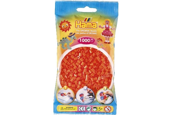 Image of Hama midi perler - 207-04 - Orange - 1000 stk