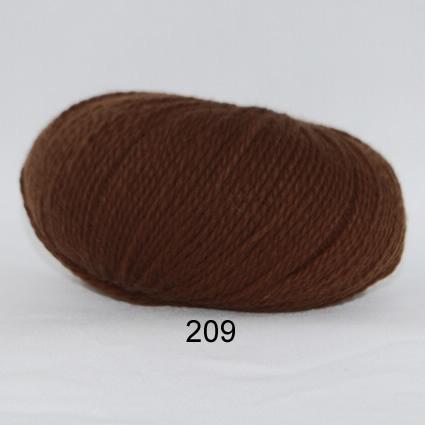 Image of Hjerte Fine Highland Wool - Uldgarn - Hjertegarn - fv 209 Brun