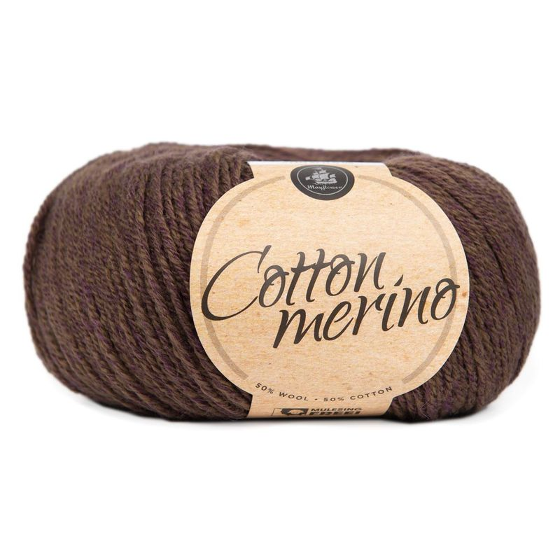Billede af Mayflower Cotton Merino - Merinould & Bomuldsgarn - Fv 030 Bregnebrun