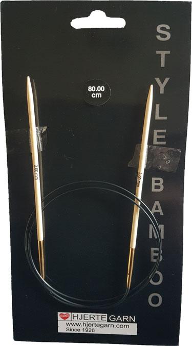 Billede af Bambus rundpind - 80 cm 10 mm