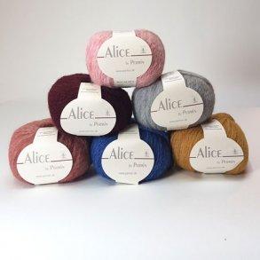 Alice Permin - Alpaca uldgarn -  Garn til pind 6 - 8 mm