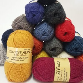 Exclusive Alpaca/Kradsefri økologisk uldgarn