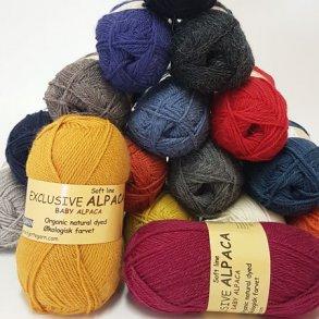 Exclusive Økologisk Alpaca 100% Baby uld