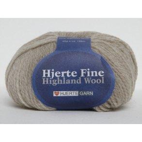 Hjerte Fine Highland Wool 100% Uld