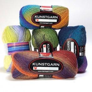 Kunstgarn - Hæklegarn - Flerfarvet