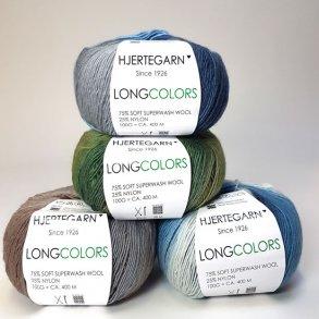 Hjertegarn Long Colors - Uldgarn med farveskift