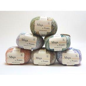 Maja Permin - Flerfarvet Bomuldsgarn til pind 3 - 3,5 mm