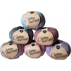 Mayflower Cotton Merino Melange garn - Merinould & Bomuld