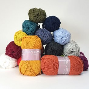 Hjertegarn Merino Cotton - 50% uld 50% bomuld