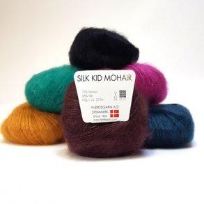 Silk Kid Mohair - Garn til pind 4 - 4,5