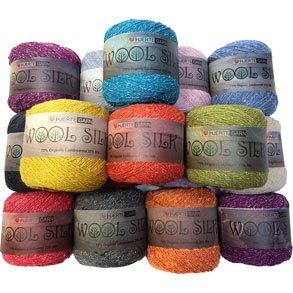 Hjertegarn Wool Silk - Silke - Blanding