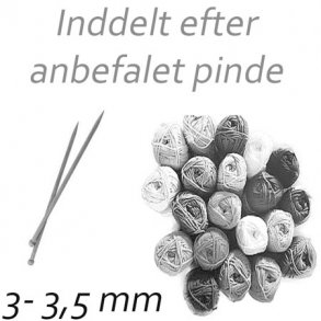 Garn til 3 - 3,5 mm pinde