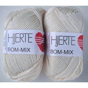 Bom-Mix garn - 50% bomuld 50% Akryl