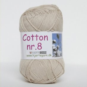 Cotton nr 8 - Bomuldsgarn