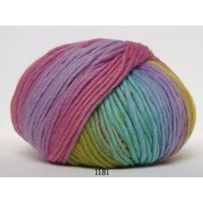 Hjertegarn Incawool - Flerfarvet tyk garn