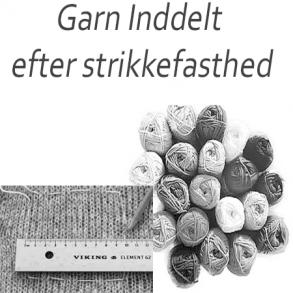 Garn inddelt efter strikkefasthed