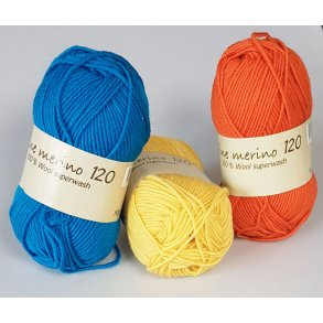 Extrafine Merino 120 - Superwash uldgarn