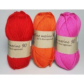 Merino garn -  Extrafine Merino 90 - Hjertegarn