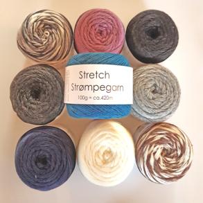 Stretch Strømpegarn 69% superwash uld 23% nylon 8% polyester