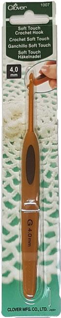 Image of Clover Soft Touch Hæklenål 4,0 mm - 1007