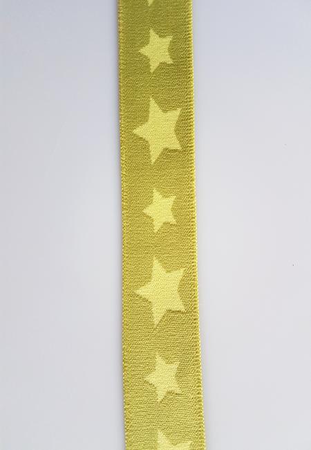 Image of Elastik til Boxershorts - Stjerne Lime 30425-0007 10 meter
