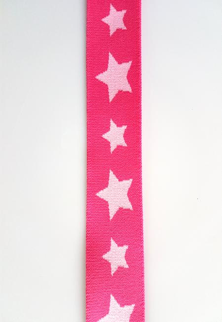 Image of Elastik til Boxershorts - Stjerne Pink 30425-0009 10 meter