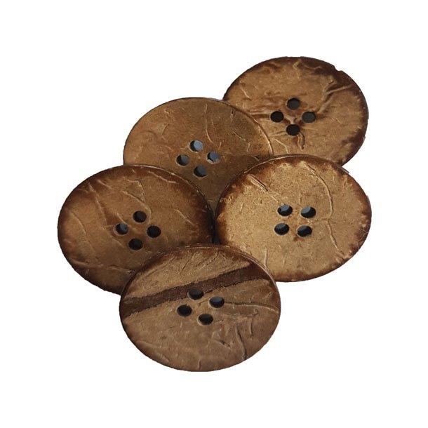 Træknapper - i kokos 25 mm -1707-40-0002