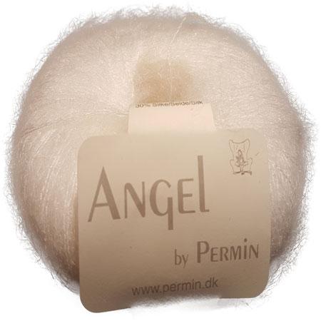 Image of Angel Permin - Mohair og silkegarn - 884101 Hvid