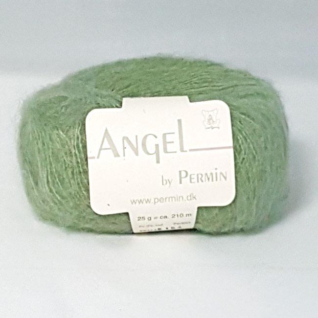 Image of Angel Permin - Mohair og silkegarn -884124 Lys Grøn